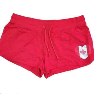 Eh! Red Canada Day Sweat Shorts Sz XL